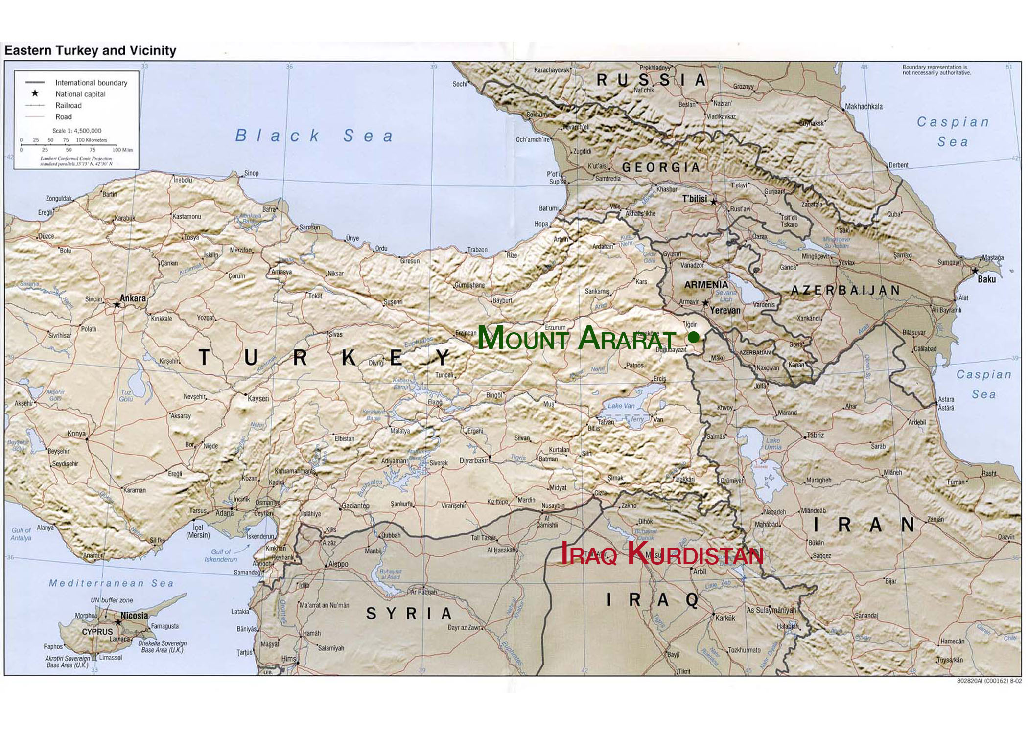 Mount Ararat Map Mount Ararat Peace Project | Mount Ararat Map